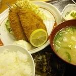 なぽれおん食堂 - イワシフライ定食