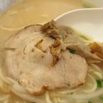31961513 - スープに沈んでいた豚バラ巻きチャーシュー。