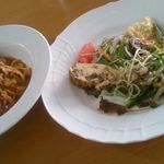 アンベルテンポ - 日替わりランチの前菜とパスタ byお店