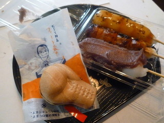 だんごの輪島 - 輪島功一さんのお店で、ファイト最中と、おだんごを買いました