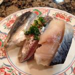 スーパー回転寿司やまと - 青魚三貫