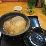 大萬 - おでん三種盛りと八海山(日本酒)