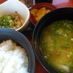 ジョイフル - 豚汁朝食411円