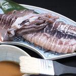 漁火 - イカの丸焼き