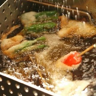 美味しい串カツとお酒で、夜までいっぱい楽しんでください☆★☆