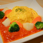 キッチンカフェ ユリシス - 野菜畑のオムライス 800円
