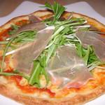 キッチンカフェ ユリシス - 生ハムと水菜のサラダピザ 910円