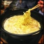 宮崎県日南市 塚田農場 - 鍋が美味かった!残ったスープはラーメンで!