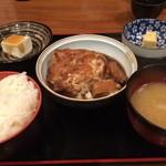勇山亭 - 銀むつの煮付け定食