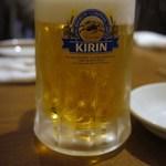 なかみち 名西酒蔵 - 生ビール中・480円=14年10月