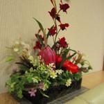 四季茶寮えど - 壁際のお花