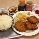 1.9亭 - チーズハムカツ定食 680円☆(第四回投稿分①)
