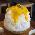 たいやきや ゆいのかき氷 - かぼちゃ(北海道・760円)