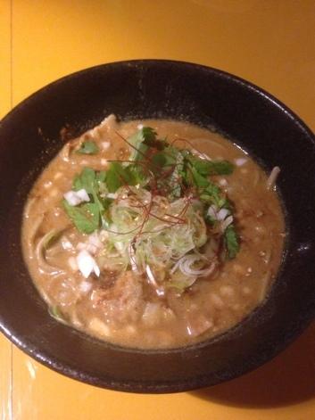 五弦 - カレー肉蕎麦(温)