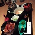 鮨 割烹 福松 - 鰻のひつまぶしコースです。