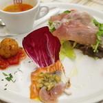ピッツェリアブラチェリア チェザリ - ランチの前菜盛り