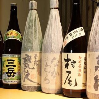 店主こだわりの厳選焼酎・日本酒