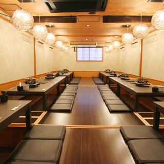 【最大60名様・個室宴会】大小の個室を数多く完備!