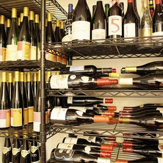 店主こだわりの自然派ワイン