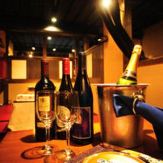 厳選樽生ワイン(スパーク赤白、赤白)ボトルワイン各種ご用意!