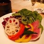 KICHIRI GARDEN TABLE - 農園バーニャカウダ(790円 税抜)