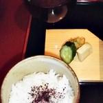 京懐石 りほう - 替り弁当 ご飯・みそ汁・香の物