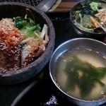 土古里 - 石焼焼肉ビビンバ1100円(税込)
