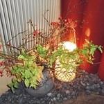 京懐石 りほう - 入口の花