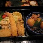 和食処みずの - 下はフライや炊き合わせ。