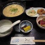 和食処みずの - 日替わりランチ(ふぐ雑炊)です。