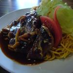 キッチン寿楽 - 料理写真:ハンバーグ デミグラスソース