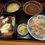 梅林 - ソースカツ丼+おろしそば