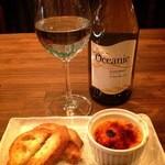 パンダルーム大名 - 水曜日はレディースデー ワイン+チーズブリュレ 690円