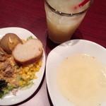 32033682 - サラダ+スープ+ドリンク
