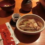 蕎麦 酒肴 京鴨 椿 - My七味(やげん堀)持参です