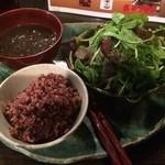 野菜居酒屋 玄気 - 玄気玄米ランチCセット(牛筋煮込みセット)