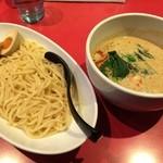 浅草製麺所 - 担担つけ麺・白+味玉(830円+クーポン)