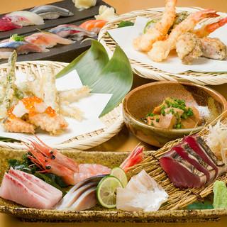 大衆割烹だからできる!本格的な寿司・割烹・天ぷらが自慢!