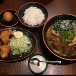 tokushimara-memmenou - 肉入、唐揚げセット(上方から)