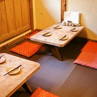 カウンター席・テーブル席・座敷と用途に合わせてご利用ください