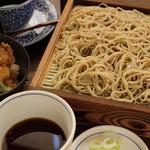 処屯 - 料理写真:せいろ・海鮮かき揚げ小丼
