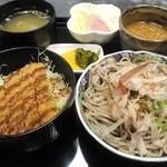 手打そば 大福 - 「ソースカツ丼セット」1050円
