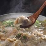 恵比寿さばと鶏白湯スープ炊き餃子 天神酒場ぬくぬく家 - ☆『元祖!鶏白湯スープ炊き餃子』