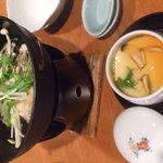 3207234 - 茶碗蒸しと鶏団子鍋