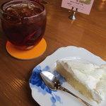 エーデルワイス洋菓子店 - クリームパイとアイスティー