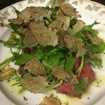 Taverna Mezzanotte - 牛ランプ肉のステーキにトリュフをたっぷり(^^)