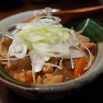 銀座平田牧場 - 平牧三元豚のもつ煮 800円 2014.10.3x