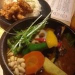 32086469 - SAMURAIまつり(豚角煮、侍ザンギ、ラムハンバーグ)