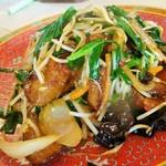 餃子の王将 - ニラレバ炒め(450円)