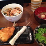 魚串さくらさく - 煮穴子丼と二種の魚串